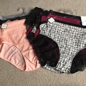 9 pairs women's panties Adrienne vitradini 3XL NEW